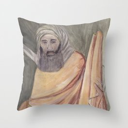 Reproduction of a Section of The Trial By Fire Fresco by Giotto Throw Pillow