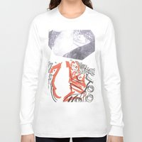 klimt Long Sleeve T-shirts featuring Homage to Klimt by PerClaudia