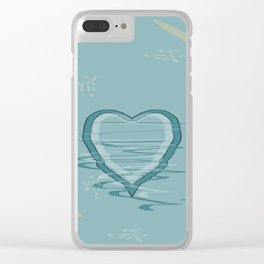 Pattern 2018 015 trembling hearts Clear iPhone Case