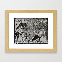 Mama Spider Framed Art Print