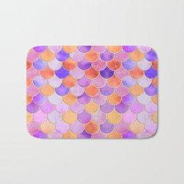 Sunset Mermaid Scales Pattern Bath Mat