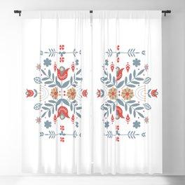 Scandinavian Folk Art Blackout Curtain