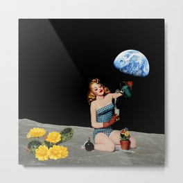 Lets Plant the Moon Metal Print