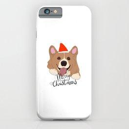 Corgi Christmas, Cute Welsh Corgi X mas deign iPhone Case