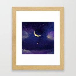 Lunar Flight Framed Art Print