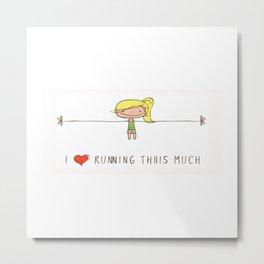 I love running girl Metal Print