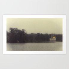 November Lake Art Print