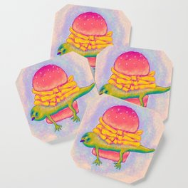 French Fry Newt Burger with Special Sauce Coaster
