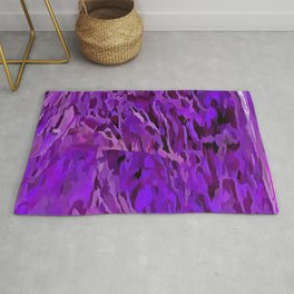 Distressed Violet Tree Bark Abstract Rug