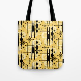 Retro Atomic Mid Century Pattern 771 Yellow Tote Bag