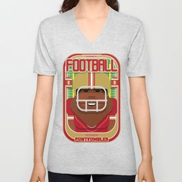 American Football Red and Gold - Enzone Puntfumbler - Hayes version Unisex V-Neck