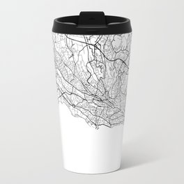Lausanne Map White Travel Mug