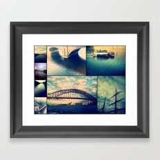 Water Collage Framed Art Print