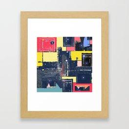 Keepin' it Lit . Contemporary Retro Urban Abstract Framed Art Print