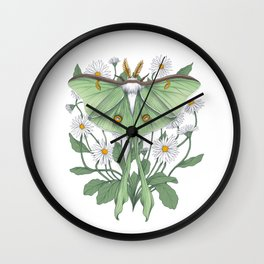 Metamorphosis - Luna Moth Wall Clock