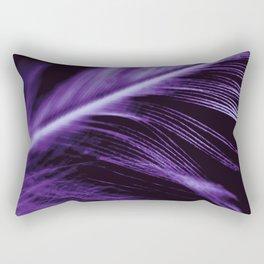Purple Ultraviolet Feather close up Rectangular Pillow