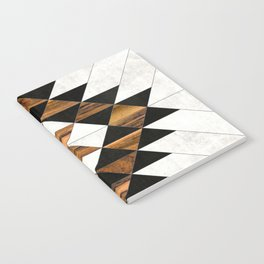 Urban Tribal Pattern No.9 - Aztec - Concrete and Wood Notebook