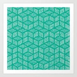 Kenna (Green) Art Print