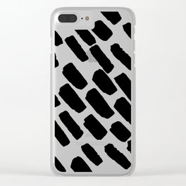 Oblique dots black and white Clear iPhone Case