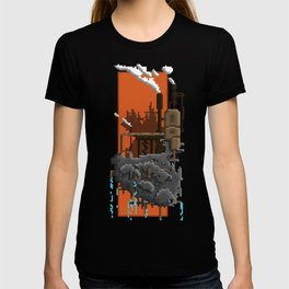Pixel Landscape : Steam Factory T-shirt
