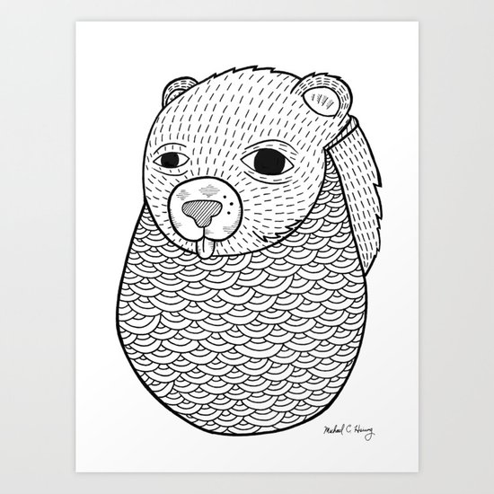 Mr. Rupel's Most Ingenuous Beard for Bears  Art Print