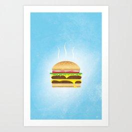 Burger Food Poster Art Print