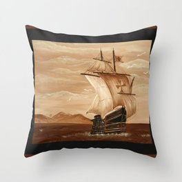 Partons la mer est belle Throw Pillow