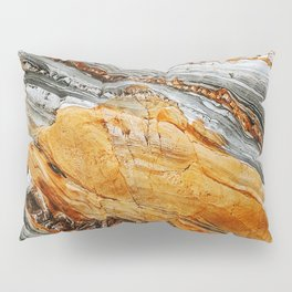 Gray Copper Marbled Petrified Wood Pillow Sham