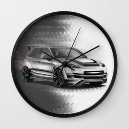 Porsch Cayenne Sakura Artrace body-kit. Wall Clock