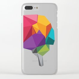 creative brain Clear iPhone Case