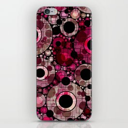 Vibrant Abstract Pink Bubbles design iPhone Skin