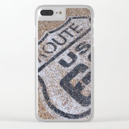 The mythical Route 66 sign in California, USA. Clear iPhone Case
