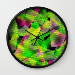 I Don't Do Normal - Abstract Print Wall Clock