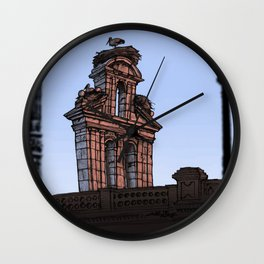 Bell Gable (color) Wall Clock
