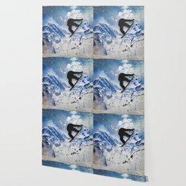 Snowboarder In Flight Wallpaper