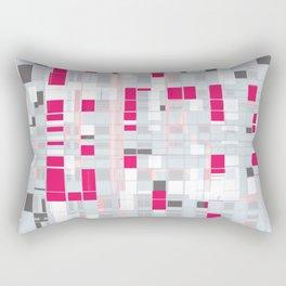 Popping Squares (pink) Rectangular Pillow