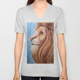 Lion of the Tribe of Judah Unisex V-Neck