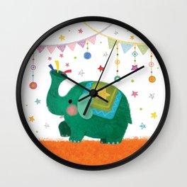 circus elephant Wall Clock