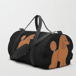 Apricot Poodle on Black Duffle Bag
