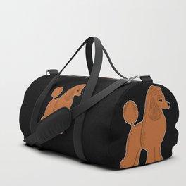 Apricot Poodle on Black Duffle Bag
