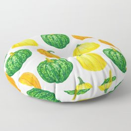 Pumpkins watercolor pattern Floor Pillow
