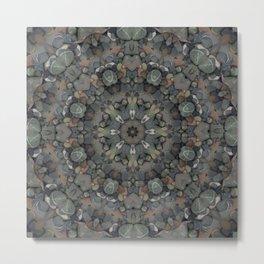 Stone Mandala Metal Print