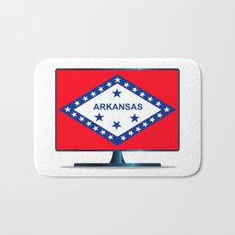Arkansas Flag TV Bath Mat