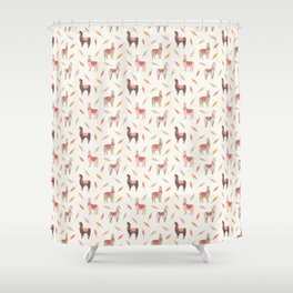 Boho llama Shower Curtain
