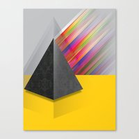 pyramid Canvas Prints featuring Pyramid by ohzemesmo