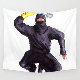 Bathroom Ninja Wall Tapestry