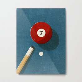 BILLIARDS / Ball 7 Metal Print