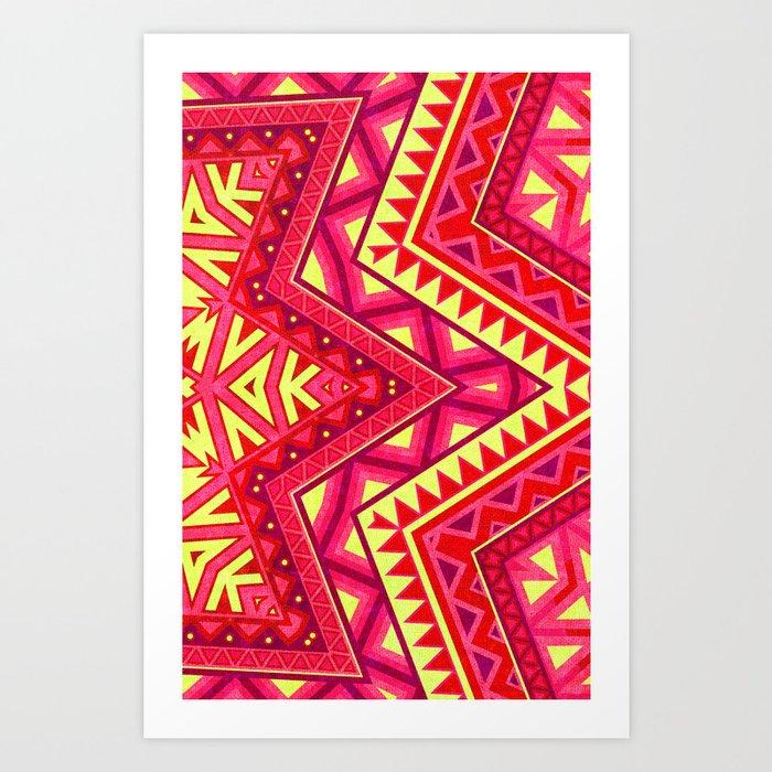 Indian Drugs Pattern 3 Art Print