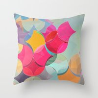 fifth harmony Throw Pillows featuring HARMONY by Julia Tomova