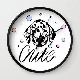 Dalmatian dog design Wall Clock